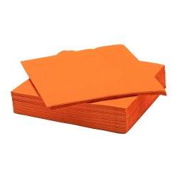 Serviette papier 40X40 Orange X50