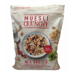 Muesli croustillant fruits 450g